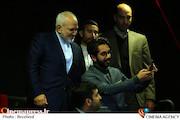 حضور محمدجواد ظریف در مراسم اکران خصوصی فیلم سینمایی مارموز