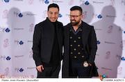 هومن سیدی و نوید محمدزاده در دوازدهمین جشن منتقدان و نویسندگان سینمایی ایران