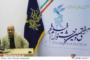 مسعود نجفی در مراسم رونمایی از پوستر و اعلام فیلم های بخش سودای سیمرغ سی و هفتمین جشنواره فیلم فجر