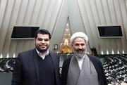 دیدار ولید درویش کارگردان سوری با حجت الاسلام پژمانفر