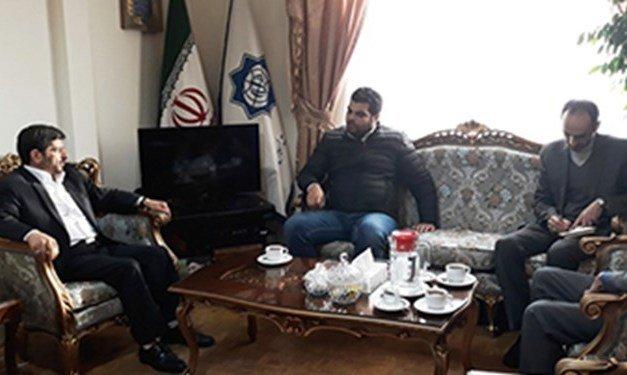 عباس خامهيار در ديدار نماینده پارلمان سوریه