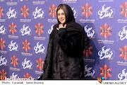 آزاده صمدی در اکران قسمت اول سریال «نهنگ آبی»