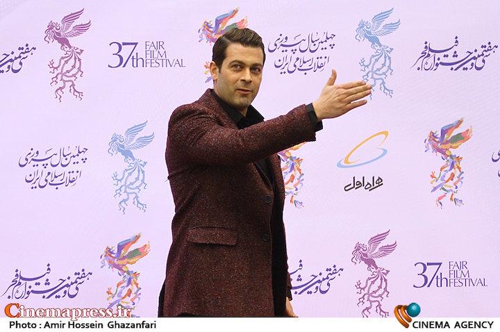 پژمان بازغی در افتتاحیه سیوهفتمین جشنواره فیلم فجر