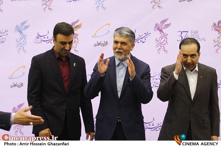 انتظامی، صالحی و داروغه زاده در افتتاحیه سیوهفتمین جشنواره فیلم فجر