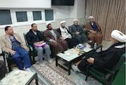 حضور سرپرست شبکه قرآن و معارف سیما در مسجد مقدس جمکران