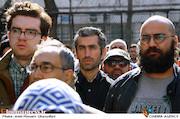 مجتبی جباری در مراسم تشییع پیکر مرحوم «خشایار الوند»