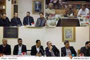محسن مومنی شریف رییس حوزه هنری در جمع مدیران سینماهای حوزه هنری در استانها
