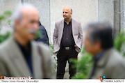 مسعود نجفی در مراسم تشییع پیکر مرحوم «حبیب کاوش»