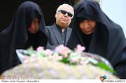 سیدضاء هاشمی در مراسم تشییع پیکر مرحوم «حبیب کاوش»