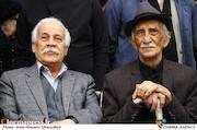 داریوش اسدزاده و جلال الدین معریان در مراسم تشییع پیکر مرحوم «جمشید مشایخی»