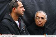 مسعود فروتن در مراسم تشییع پیکر مرحوم «جمشید مشایخی»