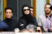 لیلا حاتمی در مراسم تشییع پیکر مرحوم «جمشید مشایخی»