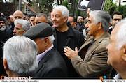 محمدرضا طالقانی در مراسم تشییع پیکر مرحوم «جمشید مشایخی»