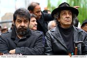 نادر و سام مشایخی در مراسم تشییع پیکر مرحوم «جمشید مشایخی»