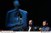 مجدالدین معلمی و محمد زرویی نصرآباد در نشست رسانه ای هفته هنر انقلاب اسلامی