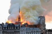 آتشسوزی عظیم در کلیسای تاریخی نوتردام