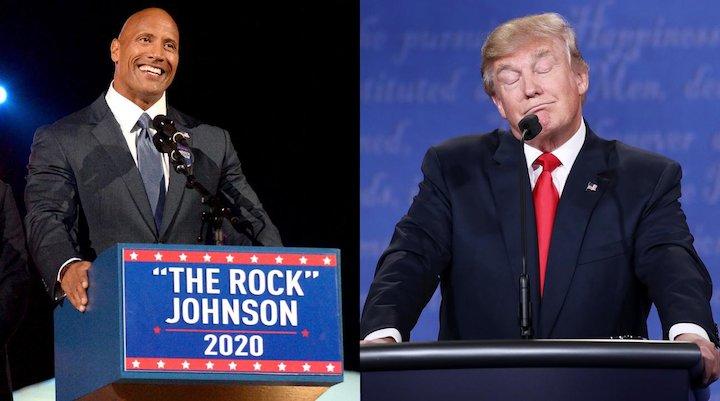 دواین جانسون و ترامپ