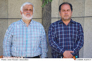 علی غفاری و سعید سعدی در مراسم تشییع پیکر مرحوم «محمدابراهیم سلطانی فر»