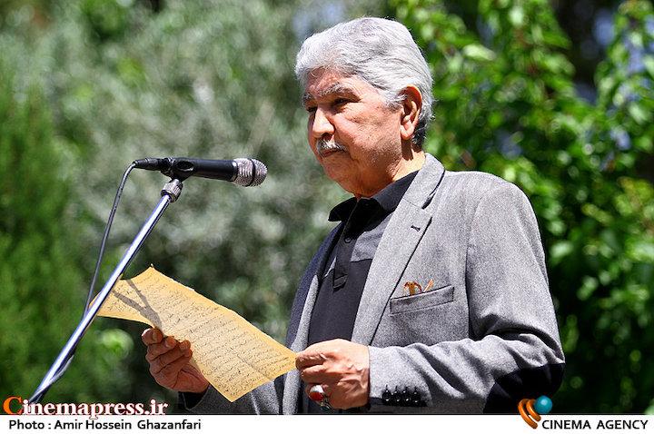 محمود قنبری در مراسم تشییع پیکر مرحوم «پرویز بهرام»
