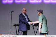 فریدون جیرانی و بهرام دهقان در مراسم افتتاحیه شانزدهمین جشنواره بین المللی فیلم کوتاه دانشجویی نهال