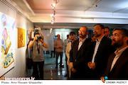 مراسم افتتاح نمایشگاه کارتون و کاریکاتور «آسوده باش، من ملکهام»