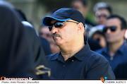 مسعود روشنپژوه در مراسم تشییع پیکر مرحوم «حسین صفاریان»