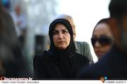 سونیا پوریامین در مراسم تشییع پیکر مرحوم «حسین صفاریان»
