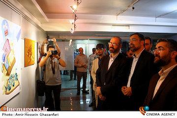 عکس/ افتتاح نمایشگاه کارتون وکاریکاتور«آسوده باش، من ملکهام»