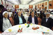 علی مطهری، محمدرضا باهنر، مصطفی کواکبیان و حجت الاسلام احمد مازنی در هجدهمین جشن مدیران تولید سینمای ایران