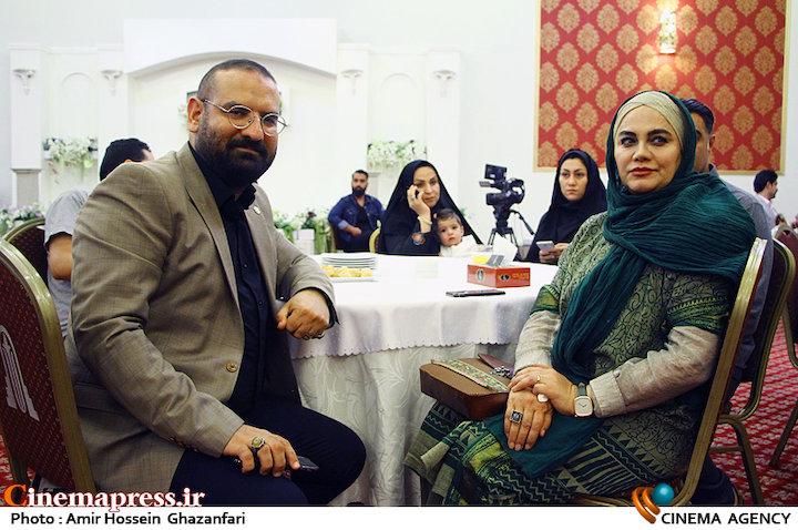 نرگس آبیار و محمدحسین قاسمی در هجدهمین جشن مدیران تولید سینمای ایران