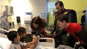 عیادت بازیگران «مرد عنکبوتی» از کودکان بیمارستانی