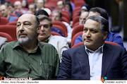 علیرضا تابش و سیمون سیمونیان در آیین تکریم و معارفه مدیران سازمان سینمایی