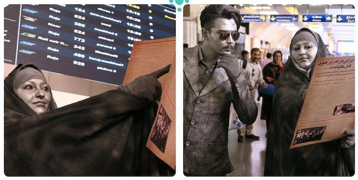 نمایش «مرد نقرهای» در ایستگاههای مترو