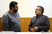 جواد شمقدری و روح الله شمقدری در مراسم تکریم و معارفه مدیرعامل انجمن سینمای انقلاب و دفاع مقدس