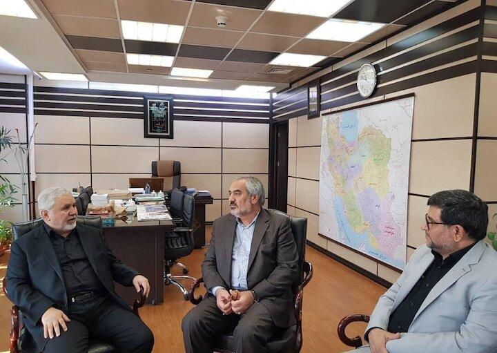 دیدار بهمن مرادنیا استاندار کردستان با علی دارابی