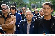 خسرو احمدی در مراسم تشییع پیکر مرحوم «ابراهیم آبادی»