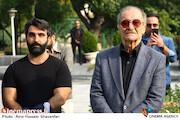 سیامک اطلسی در مراسم تشییع پیکر مرحوم «بیژن علیمحمدی»