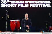 مسعود امینی تیرانی در مراسم اختتامیه سیوششمین جشنواره بینالمللی فیلم کوتاه تهران