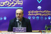 علی هوشمند در نشست خبری چهاردهمین جشنواره سراسری تئاتر مردمی بچههای مسجد