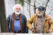 کاظم هژیرآزاد در تشییع پیکر نصرتالله کریمی