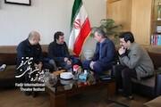 بازدید شهرام کرمی از همایش برگزیدگان جشنوارههای تئاتر استانها