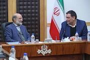 دیدار عادل آذر رئیس دیوان محاسبات با دکتر علی عسکری