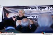 کامران ملکی در مراسم تشییع پیکر «شهلا ریاحی»
