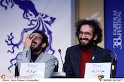 بهرام و بهمن ارک در نشست خبری فیلم سینمایی «پوست»