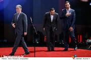 ابراهیم داروغه زاده ، حسین انتظامی و سید عباس صالحی در اختتامیه سی و هشتمین جشنواره فیلم فجر
