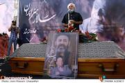 کامران ملکی در مراسم تشییع پیکر مرحوم «محمدعلی کشاورز»