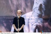اسماعیل شنگله در مراسم تشییع پیکر مرحوم «محمدعلی کشاورز»