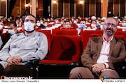 محسن مومنی شریف و محمدمهدی دادمان در مراسم تکریم و معارفه رئیس «حوزه هنری»
