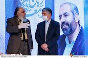 سیدعباس صالحی و داریوش ارجمند در مراسم تکریم و معارفه رئیس «حوزه هنری»