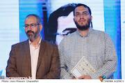 محمدمهدی دادمان و محسن مومنی شریف در مراسم تکریم و معارفه رئیس «حوزه هنری»